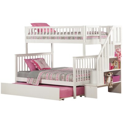 viv + rae shyann twin over full bunk bed with trundle & reviews