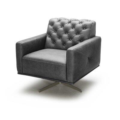 george oliver jabari italian leather swivel armchair u0026 reviews wayfair