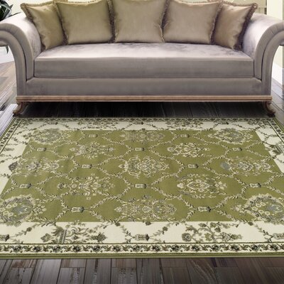 Charlton Home Anselm Olive Green Area Rug Reviews