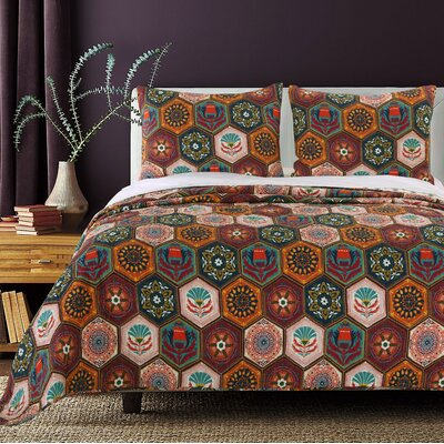 greenland home fashions annika cotton reversible quilt set u0026 reviews wayfair - Greenland Home Fashions