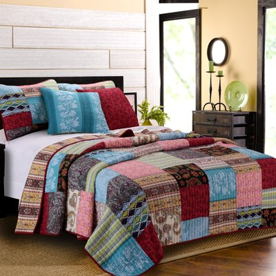 greenland home fashions bohemian dream bonus reversible quilt set u0026 reviews wayfair - Greenland Home Fashions