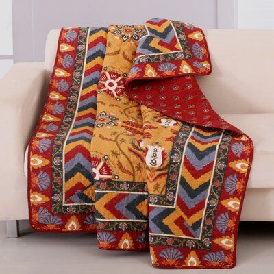 greenland home fashions farrah cotton quilted throw u0026 reviews wayfair - Greenland Home Fashions