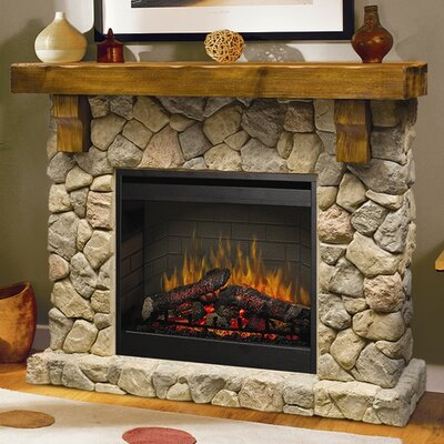 Dimplex fieldstone electric fireplace reviews for Field stone fireplace