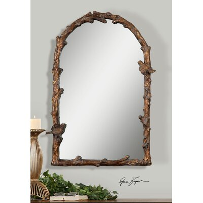 Arch Wall Mirror one allium way eliana arch gold wall mirror & reviews | wayfair