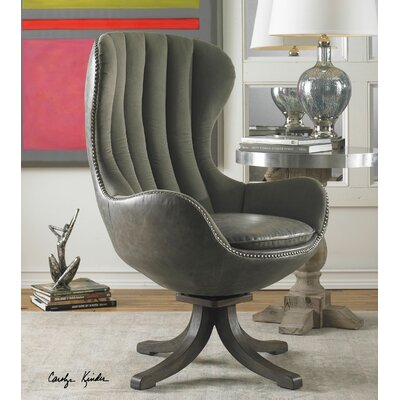 uttermost linford swivel wing back chair & reviews | wayfair