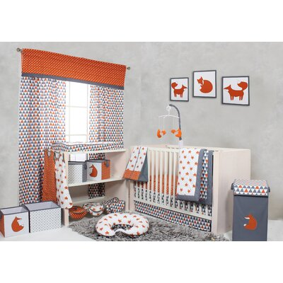Bacati Playful Fox Bumperfree 10 Piece Crib Bedding Set & Reviews | Wayfair - Bacati Playful Fox Bumperfree 10 Piece Crib Bedding Set & Reviews