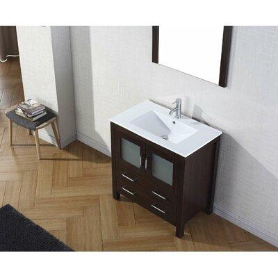 """virtu dior 32"""" single bathroom vanity set with mirror & reviews"""