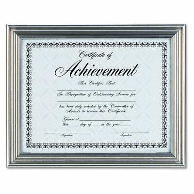 antique colored document metal frame with certificate 85 x 11 reviews wayfair - Document Frames 85 X 11