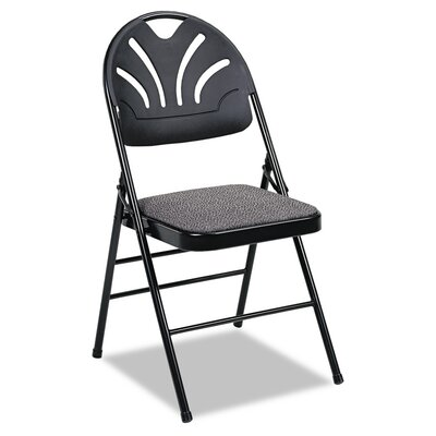 cosco fabric padded seat/molded low-back folding office chair