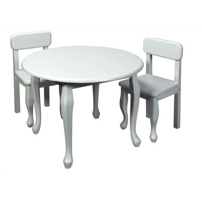 Gift Mark Queen Anne Kids 3 Piece Table And Chair Set U0026 Reviews | Wayfair
