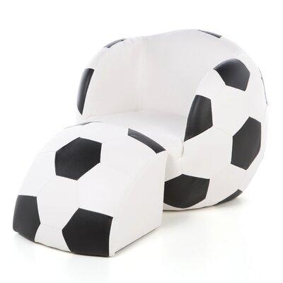 Gift Mark Soccer Ball Kids Novelty Chair And Ottoman U0026 Reviews | Wayfair