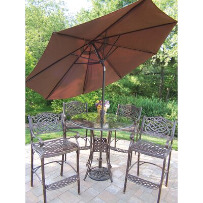 Online Reviews Hummingbird Mississippi 6 Piece Bar Set with Umbrella by Oakland Living