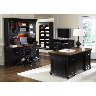 liberty furniture st. ives 5-piece standard desk office suite
