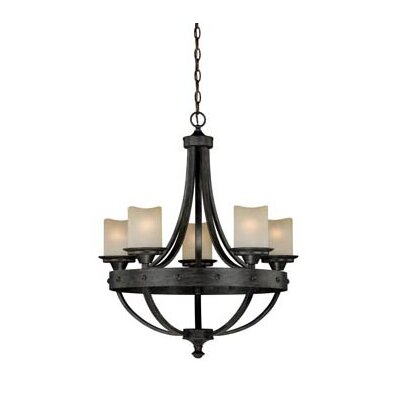 Vaxcel Halifax 5 Light Candle Style Chandelier Reviews Wayfair