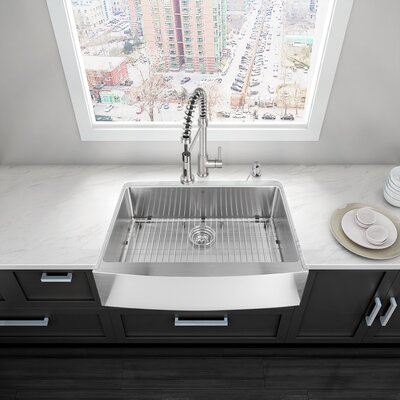 vigo 33   x 22   farmhouse  apron kitchen sink  u0026 reviews   wayfair  rh   wayfair com