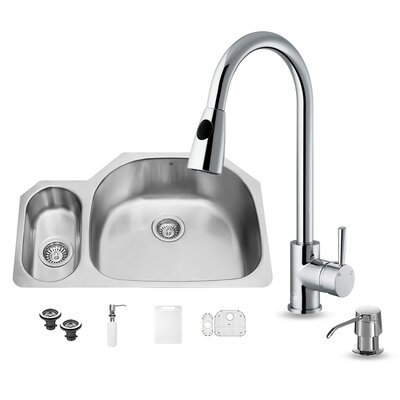 stainless steel kitchen sinks 70 30 double bowl gauge sink chrome faucet grid two strainers soap dispenser cleaner rozin si