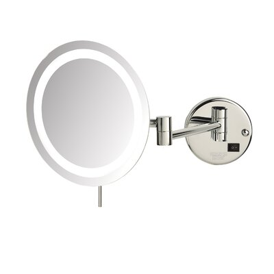 Magnifying Wall Mirror jerdon led 8x magnifying wall mount makeup mirror & reviews | wayfair