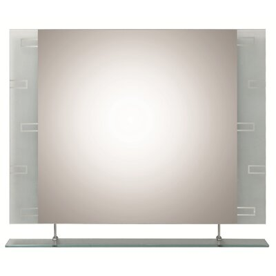 Frameless Wall Mirror orren ellis cheryl frameless wall mirror & reviews | wayfair