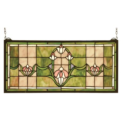 meyda tiffany victorian tulips transom stained glass window u0026 reviews wayfair - Meyda Tiffany