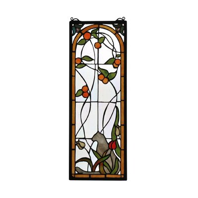 meyda tiffany tiffany cat and tulips stained glass window u0026 reviews wayfair - Meyda Tiffany