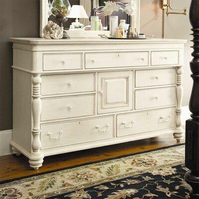 Paula Deen Home Steel Magnolia 9 Drawer Combo Dresser Reviews Wayfair