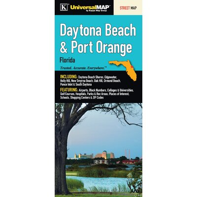 Universal Map Daytona Beach Florida Fold Map Wayfair