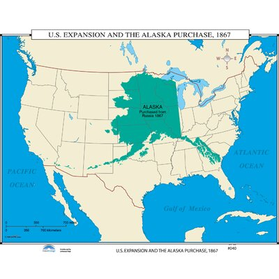 Universal Map US History Wall Maps US Expansion Alaska - Us map and alaska