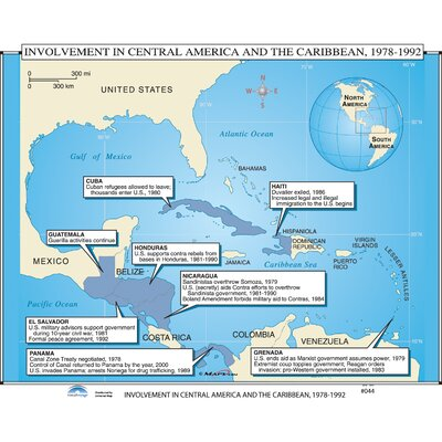 Universal Map US History Wall Maps US Intervention In Latin - Us latin american intervention maps