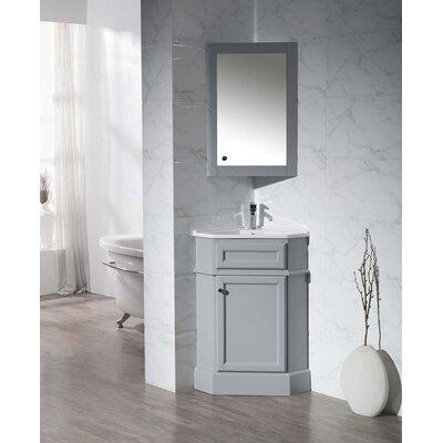 Rocher 265 Single Corner Bathroom Vanity Set With Mirror