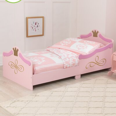 kidkraft princess convertible toddler bed & reviews | wayfair.co.uk
