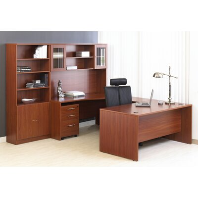 haaken furniture pro x 8 piece u-shape desk office suite & reviews