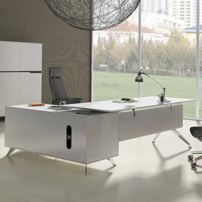 l shape furniture. Haaken Furniture Prestige Collection L-Shape Executive Desk \u0026 Reviews   Wayfair L Shape