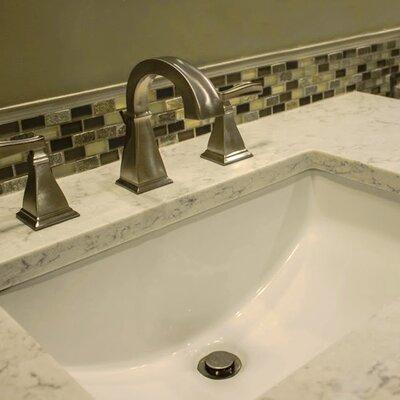 nantucket sinks great point rectangular undermount bathroom sink with overflow reviews wayfair