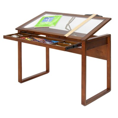 Studio Design Drafting Table studio designs futura silver blue glass drafting table with tower Studio Designs Ponderosa 42 W X 24 D Drafting Table Reviews Wayfair
