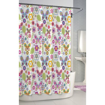 kassatex bambini shower curtain cotton butterfly shower curtain u0026 reviews wayfair - Kassatex