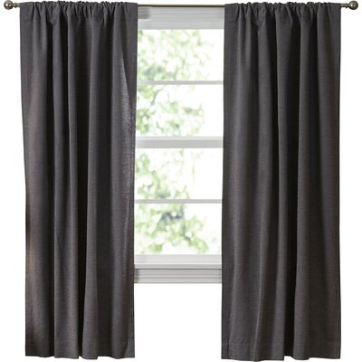 Beautyrest Room Darkening Blackout Thermal Single Curtain Panel ...