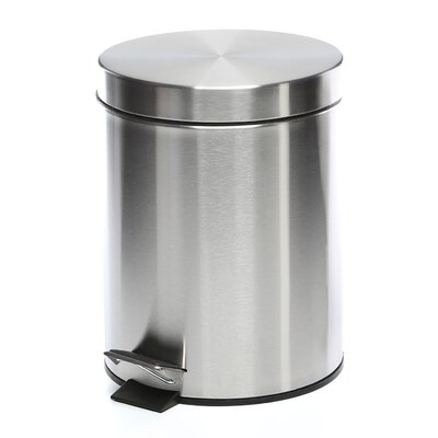 stainless trash chute can costco do steel gallon step on garbage canada