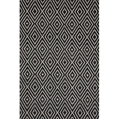 Dash and Albert Rugs Hand-Woven Black Indoor/Outdoor Area Rug ...