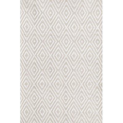 Dash and Albert Rugs Diamond Hand-Woven Gray/White Indoor/Outdoor ...