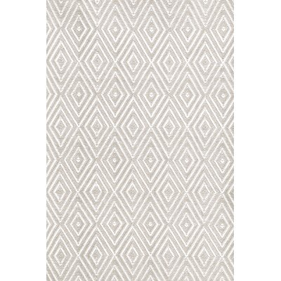 Dash and Albert Rugs Diamond Hand-Woven Platinum/White Indoor ...