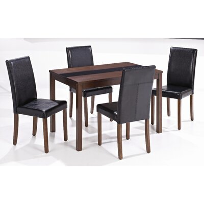 Home Zone Furniture Ashleigh Dining Set with 4 Chairs   Reviews    Wayfair co uk. Home Zone Furniture Ashleigh Dining Set with 4 Chairs   Reviews