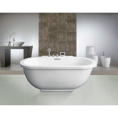 whirlpool bathtub.  Ariel Bath 71 x 37 Whirlpool Bathtub Reviews Wayfair