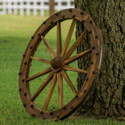 Wagon Wheel Wall Decor leighcountry charred deluxe wagon wheel wall décor & reviews | wayfair