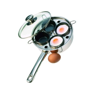 demeyere resto 4 cup stainless steel egg poacher set u0026 reviews wayfair - Demeyere