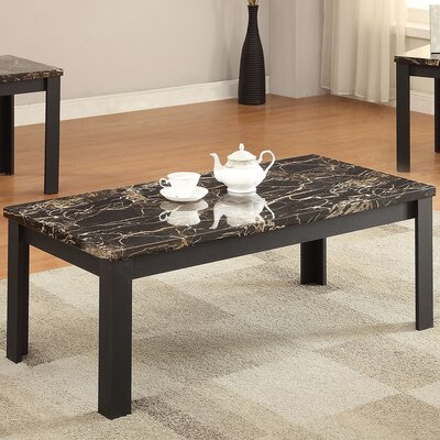 Acme Furniture Carly Faux Marble 3 Piece Coffee Table Set Reviews Wayfair