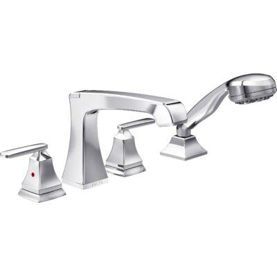 Delta Ashlyn Roman Two Handle Deck Mount Tub Filler Trim With Hand Shower U0026  Reviews | Wayfair