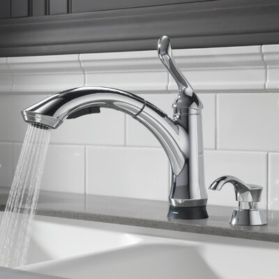 Delta Kitchen Faucet Pull Out delta linden touchless single handle pull out standard kitchen