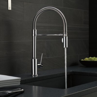 Delta Pull Down Kitchen Faucet delta trinsic single handle pull down kitchen faucet with spring