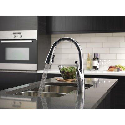 Delta Pull Down Kitchen Faucet delta allora single handle pull down kitchen faucet & reviews