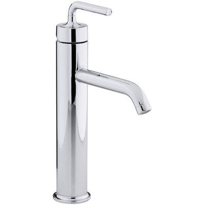 kohler purist tall singlehole bathroom sink faucet with straight lever handle u0026 reviews wayfair - Kohler Purist